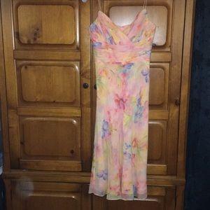 Anne Kline pastel maxi dress